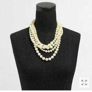 J crew factory multi strand pearl necklace